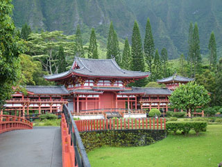 Byodo-in Temple located near Kaneohe, Hawaii