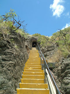 First Set of Stairs to the Summit of Diamond Head