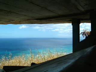 Observation Bunker for fire chief on Diamond Head
