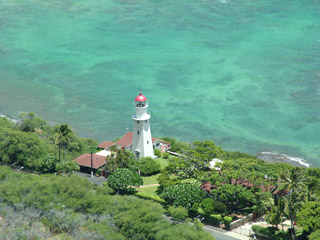 Diamond Head Lighthouse from above