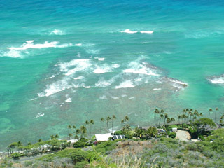 Diamond Head Drive from above