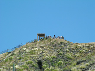 A view from below to the Diamond Head Summit