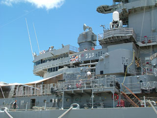 USS Missouri, a floating museum, is open to public