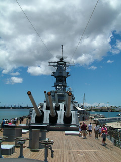 Forward View of USS Missouri