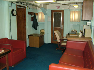 Captain's quarter on USS Missouri