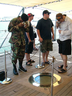 Visitors on USS Missouri