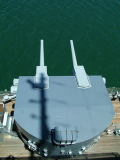 Top view of turret on USS Missouri